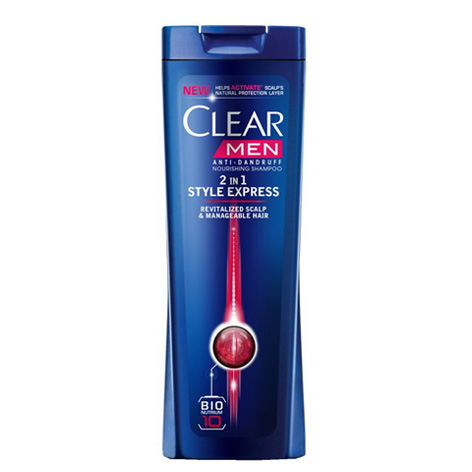 شامپو CLEAR ضد شوره آقایان ، 2 در 1 حالت دهنده ( مناسب انواع موی سر) (400ML) |