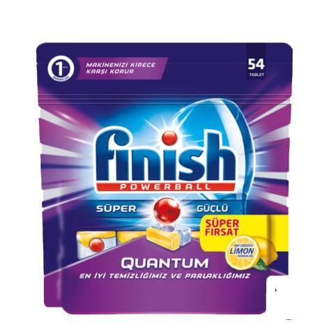 قرص ماشین ظرفشویی فینیش (finish) کوانتوم لیمویی 54 عددی |