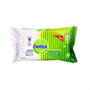 دستمال مرطوب دتول – Dettol آنتی باکتریال 10 برگی