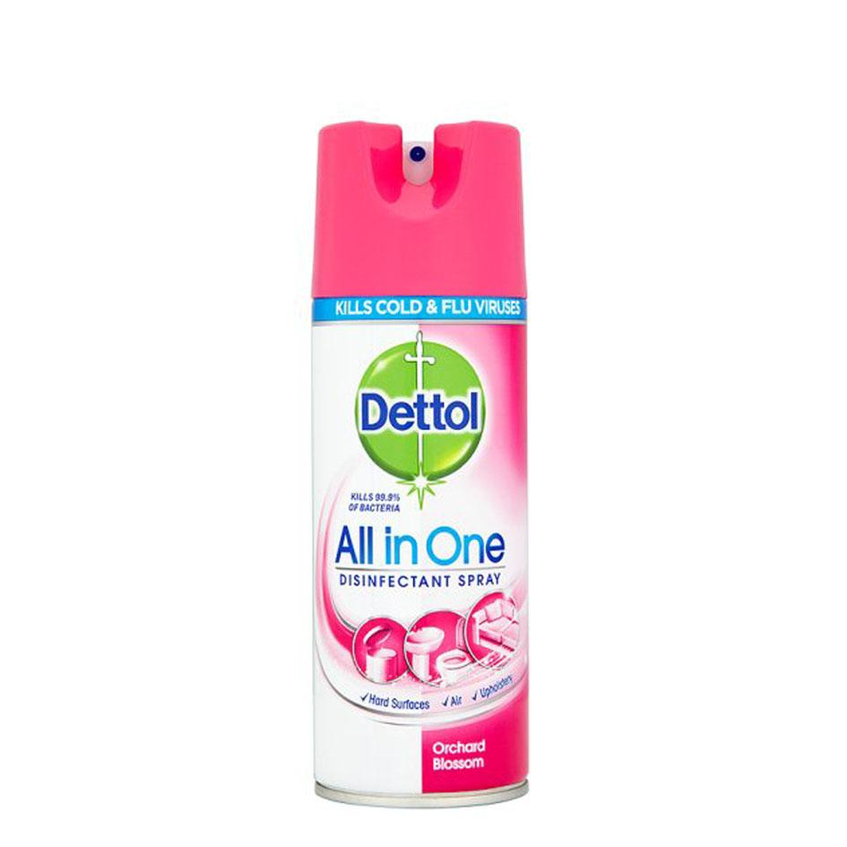 اسپری ضدعفونی کننده دتول (Dettol) حجم (400ml) با رایحه گل های بهاری