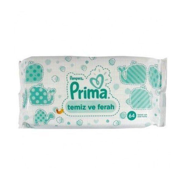 دستمال مرطوب Prima ضد حساسیت 64 عددی