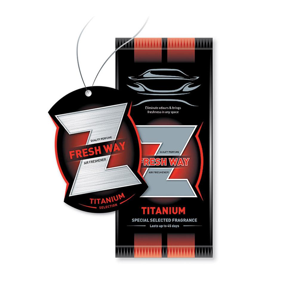 خوشبوکننده Fresh-way مدل کارتی Z رایحه TITANIUM