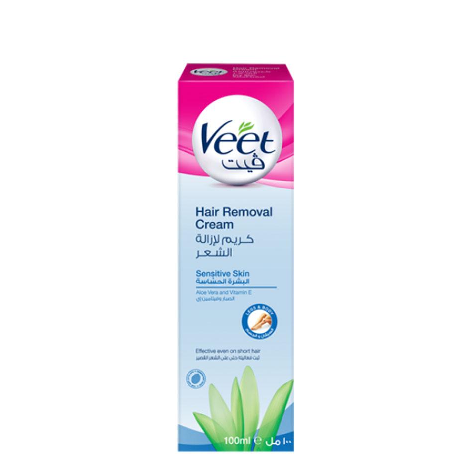 کرم موبر Veet مناسب برای پوست های حساس (100ml)