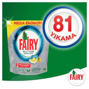 قرص ماشین ظرفشویی Fairy مدل platinum 81عددی