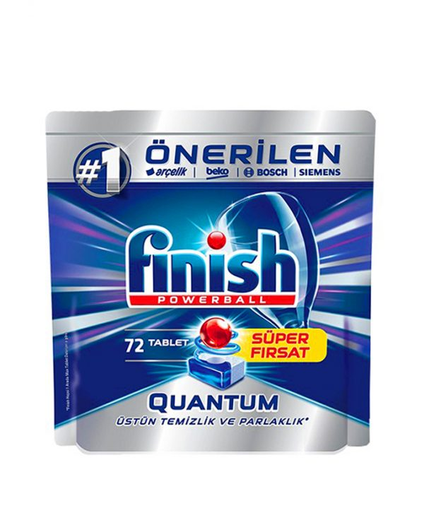 قرص ماشین ظرفشویی فینیش - finish کوانتوم 72 عددی