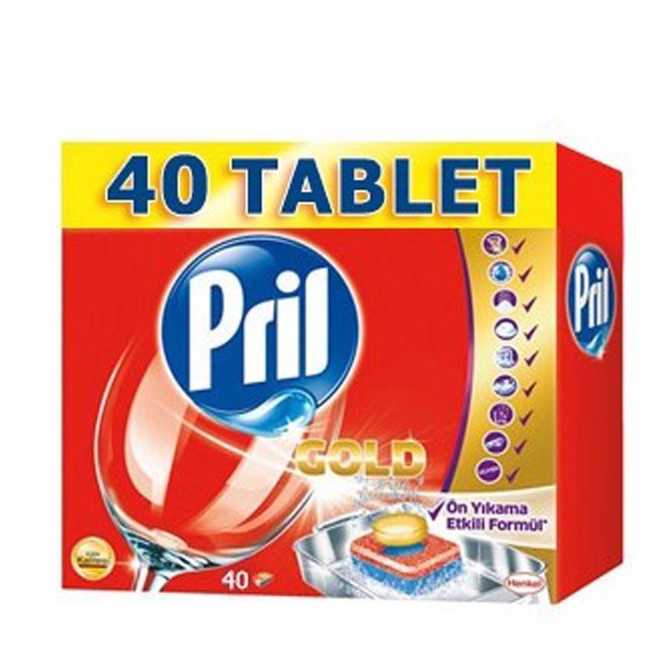 قرص ماشین ظرفشویی پریل (Pril) گلد 40 عددی