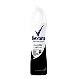 اسپری Rexona مدل invisible black & white