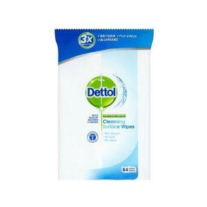 دستمال پاک کننده سطوح دتول (Dettol) آنتی باکتریال 84 عددی