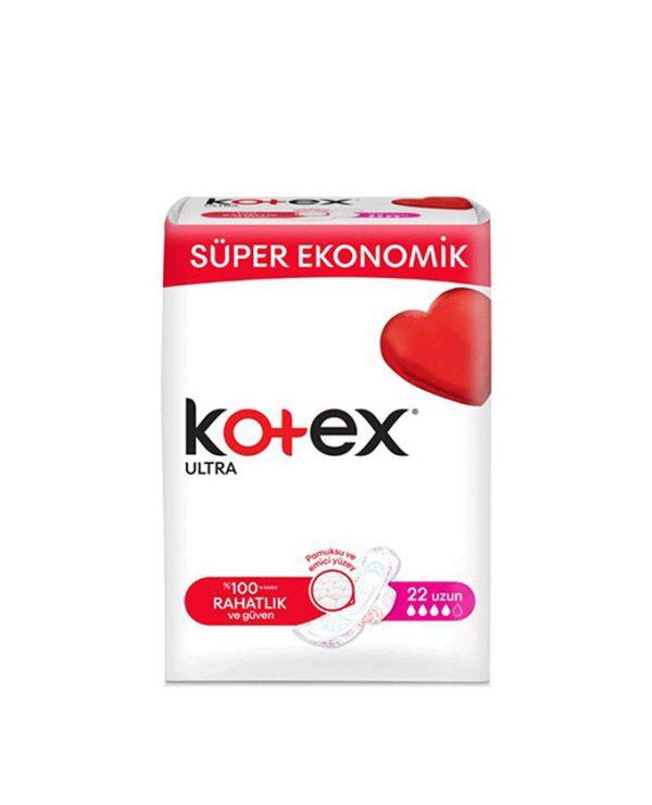 نوار بهداشتی کوتکس (KOTEX) سایز بزرگ 22 عددی