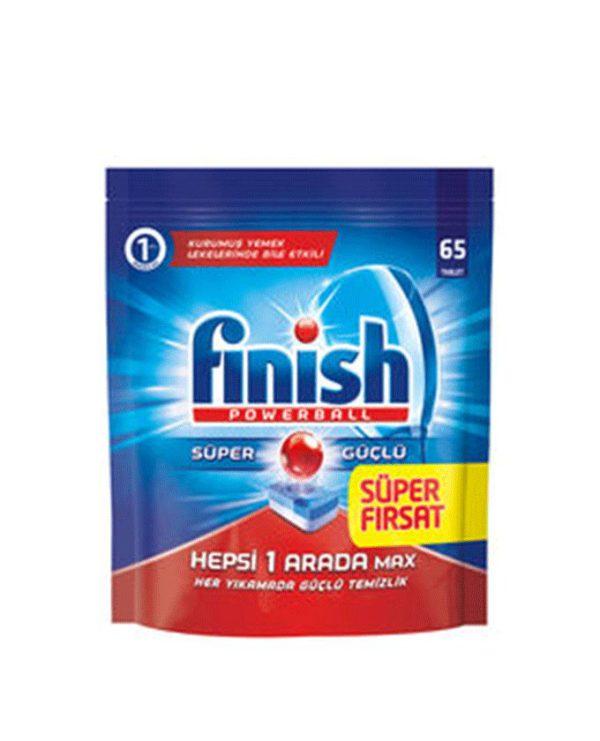 قرص ماشین ظرفشویی فینیش (finish) همه کاره 65 عددی