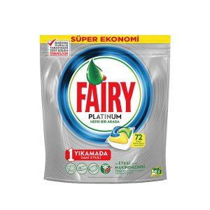 قرص ماشین ظرفشویی فیری Fairy پلاتینیوم 72 عددی