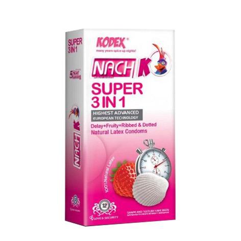 کاندوم Nach KODEX مدل SUPER 3 IN 1