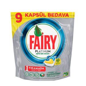 قرص ماشین ظرفشویی فیری (Fairy) پلاتینیوم 63 عددی