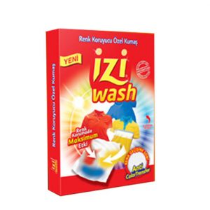 دستمال ضد رنگ لباس izi wash تعداد 12 عددی