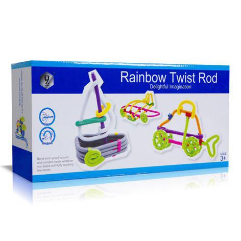 اسباب بازی فکری-سازه ای Rainbow تعداد 63 تکه ای