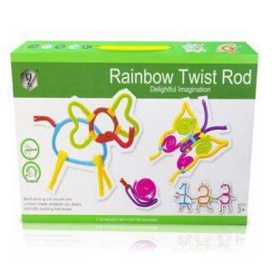 اسباب بازی فکری-سازه ای Rainbow تعداد 83 تکه ای