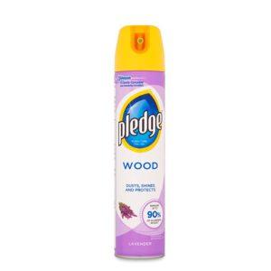 اسپری تمیزکننده pledge  پلیج مناسب سطوح چوبی رایحه اسطوخودوس