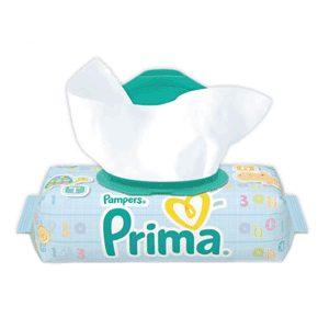 دستمال مرطوب پریما (Prima) درب دار کودک 64 برگی