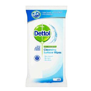 دستمال پاک کننده سطوح دتول (Dettol) آنتی باکتریال 50 برگی