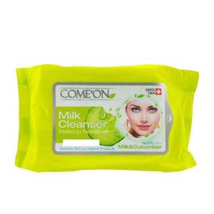 دستمال مرطوب کننده کامان مخصوص چشم و شیر پاک کن (COMEON)