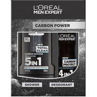 ست شامپو و اسپری لورآل مدل (carbon power) کربن پاور