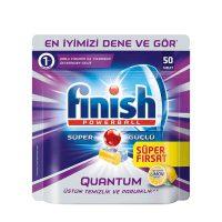 قرص ماشین ظرفشویی فینیش (finish) کوانتوم 50 عددی رایحه لیمو