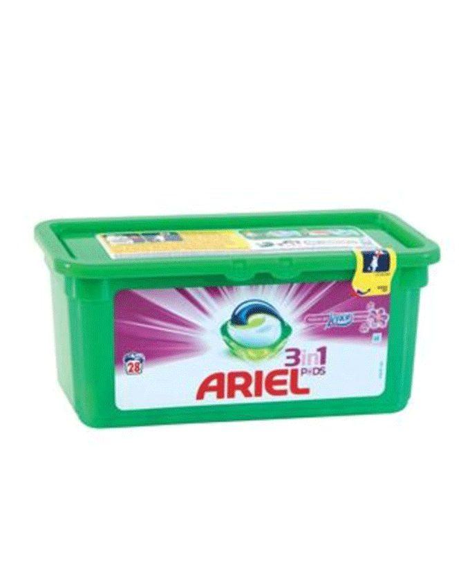 قرص ماشین لباسشویی آریل سه کاره 28 تایی مناسب لباس های رنگی