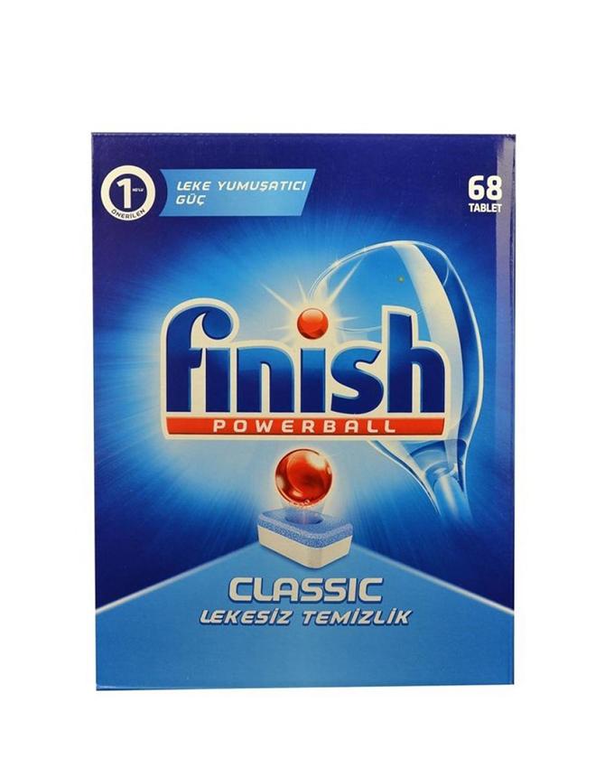 قرص ماشین ظرفشویی فینیش (finish) کلاسیک 68 عددی