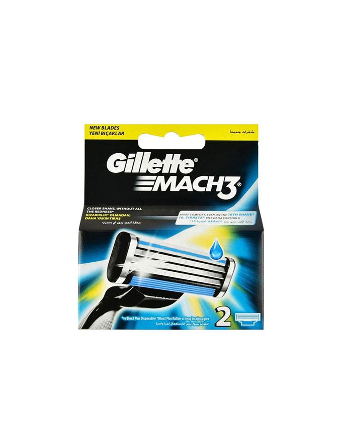 تیغ یدک ژیلت Gillette مدل MACH3 بسته 2 عددی