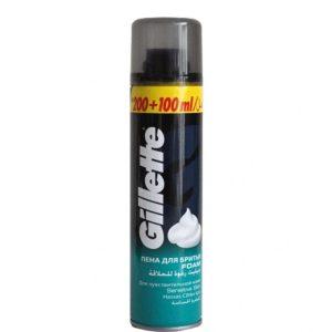 فوم اصلاح ژیلت (Gillette) 300ml برای پوستهای حساس
