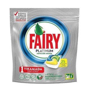 قرص ماشین ظرفشویی فیری Fairy پلاتینیوم 25 عددی