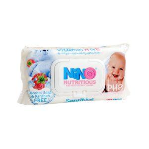 دستمال مرطوب کودک نینو (Nino) 70 برگی مدل Sensitive