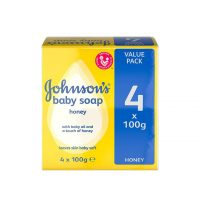 صابون جانسون (Johnson) حاوی عصاره عسل چهار عددی 100*4 گرمی