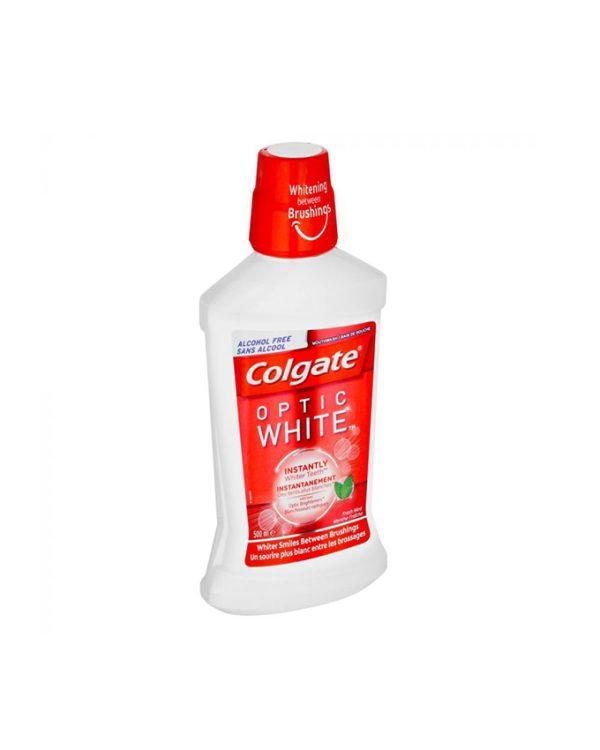 دهانشویه کلگیت - Colgate مدل Optic White در حجم 500ml
