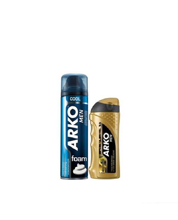 ست اصلاح فوم ارکو ARKO مدل COOL + افتر شیو ارکو گلد پاور