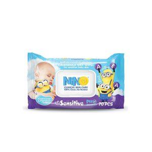 دستمال مرطوب کودک نینو 70 برگی مدل (Sensitive (Nino