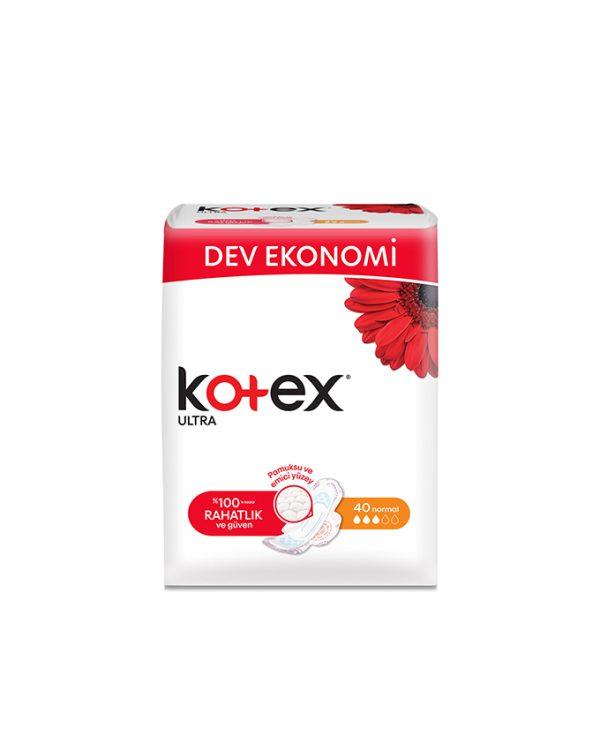 نوار بهداشتی بالدار کوتکس (KOTEX) نرمال 40 عددی