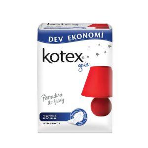 نوار بهداشتی کوتکس (KOTEX) مخصوص شب 28 عددی