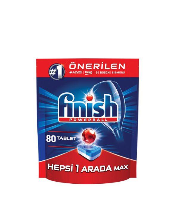 قرص ماشین ظرفشویی فینیش همه کاره (finish) تعداد 80 عددی