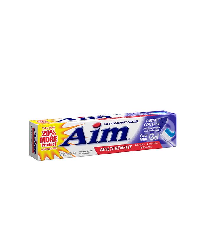خمیر دندان Aim در حجم 156 گرم محصول کشور امریکا