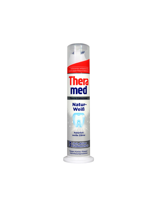 خمیردندان  Thera Med پمپی ترا مد مدل مراقبت روزانه سفید کننده 100میلی لیتر