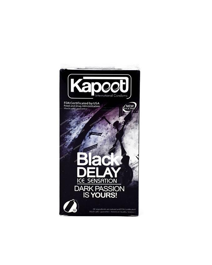 کاندوم کاپوت مدل BLACK & DARK بسته 12 عددی