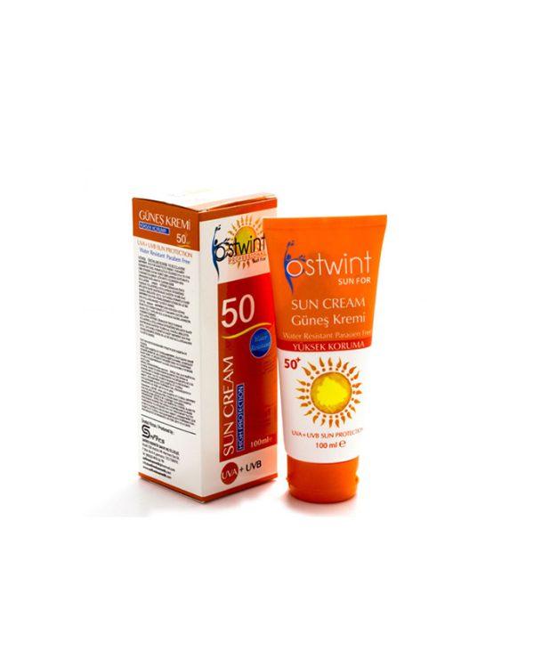 کرم ضد آفتاب SPF 50 استوینت حجم ۱۰۰ میلی Ostwint