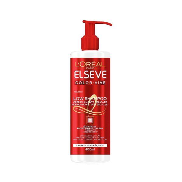 شامپو کرمی لورآل مناسب موهای رنگ شده سری ELSEVE حجم 400 میلی لیتر