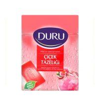 صابون حمام دورو DURU  بسته 4عددی رایحه گلهای تازه