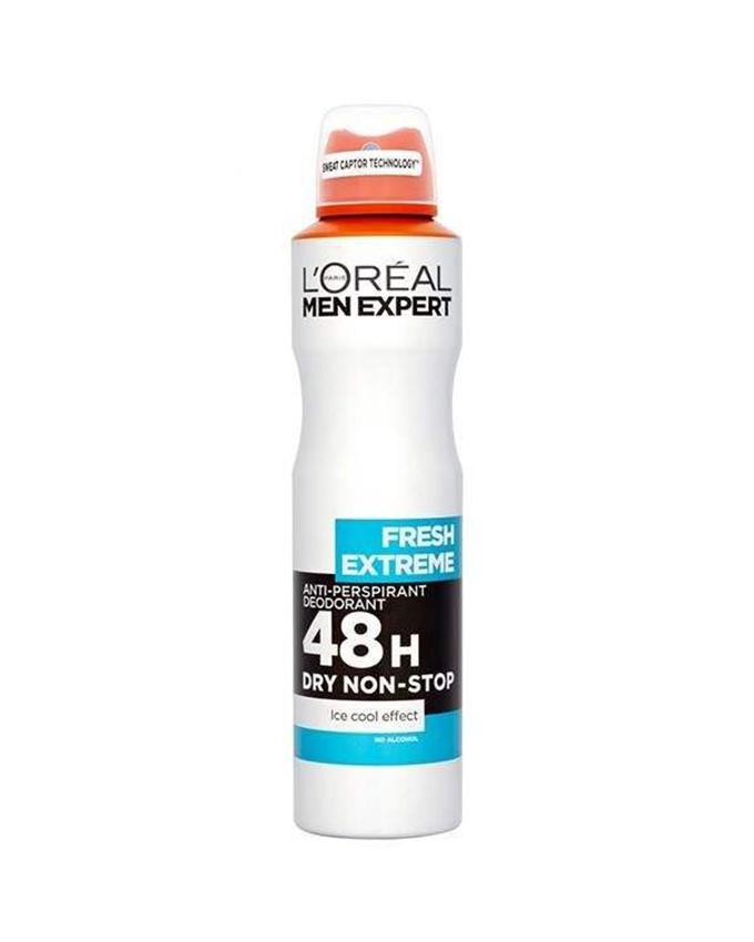 اسپری ضد تعریق مردانه لورآل سری Men Expert مدل Fresh Extereme حجم 250 میلی لیتر