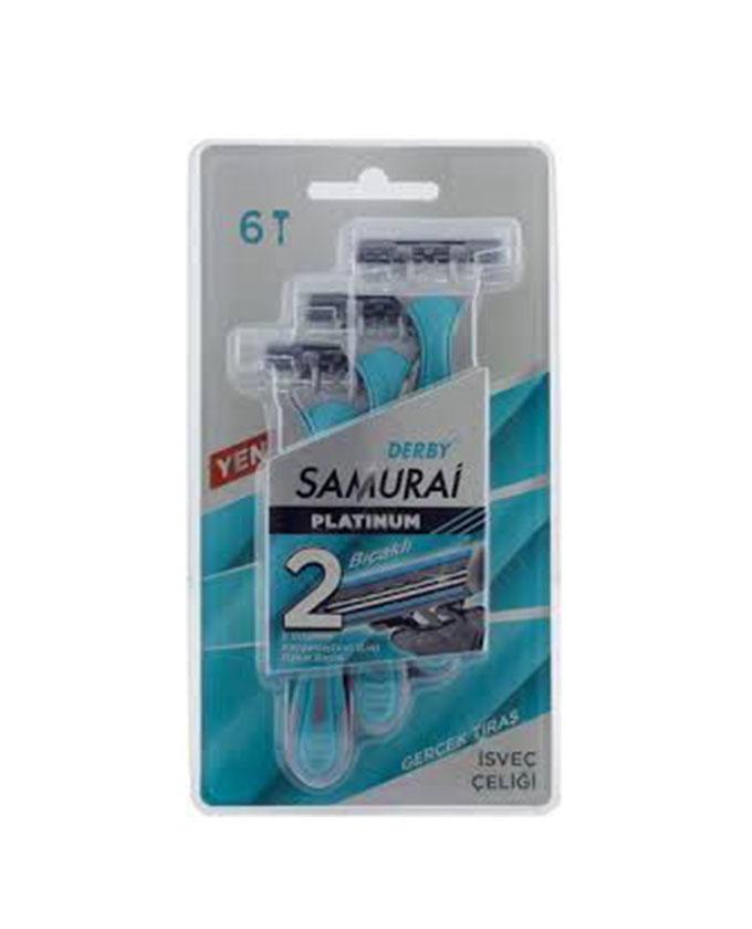 خودتراش دربی DERBY مدل SAMURAI بسته 6 عددی