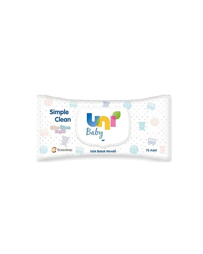 دستمال مرطوب در دار کودک 72 تایی یونی بیبی