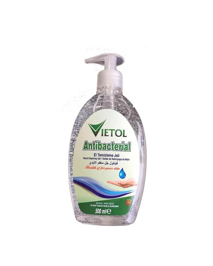 ژل ضدعفونی دست آنتی باکتریال VIETOL حجم 500 میلی