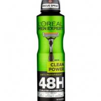 اسپري بدن مردانه لورآل - L'OREAL مدل Clean Power با حجم  250ml